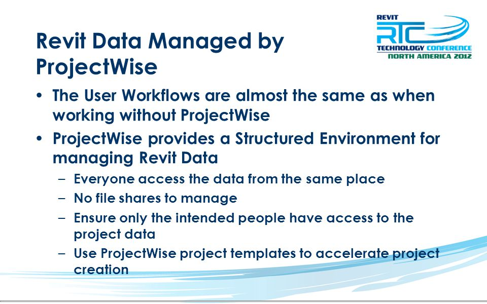 Revit Data Managed by ProjectWise