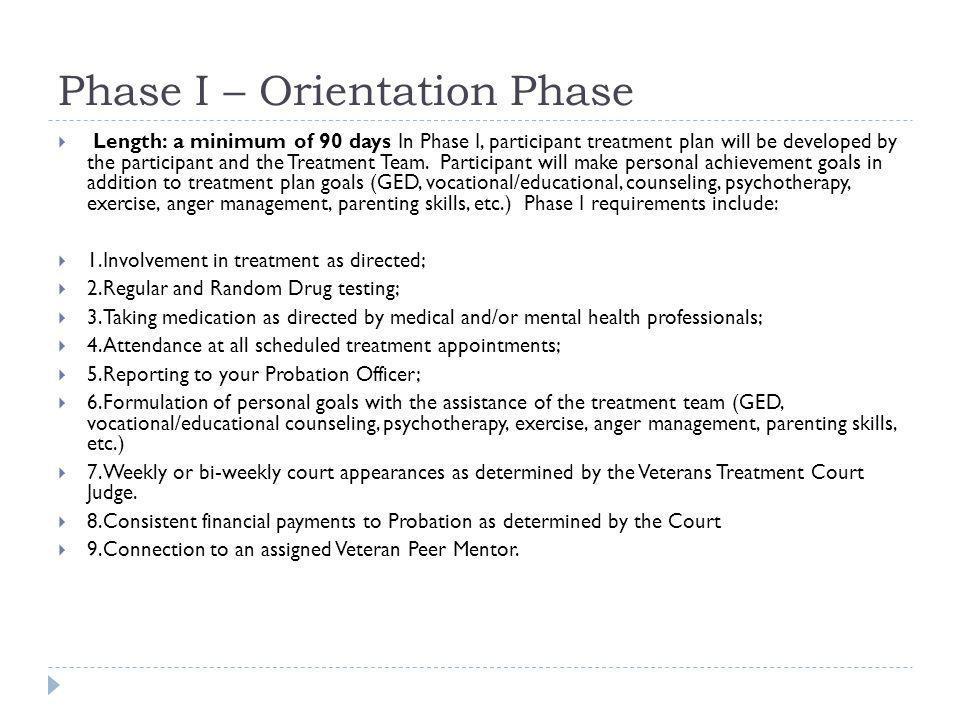 Phase I – Orientation Phase