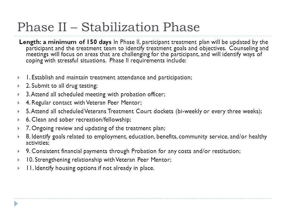Phase II – Stabilization Phase