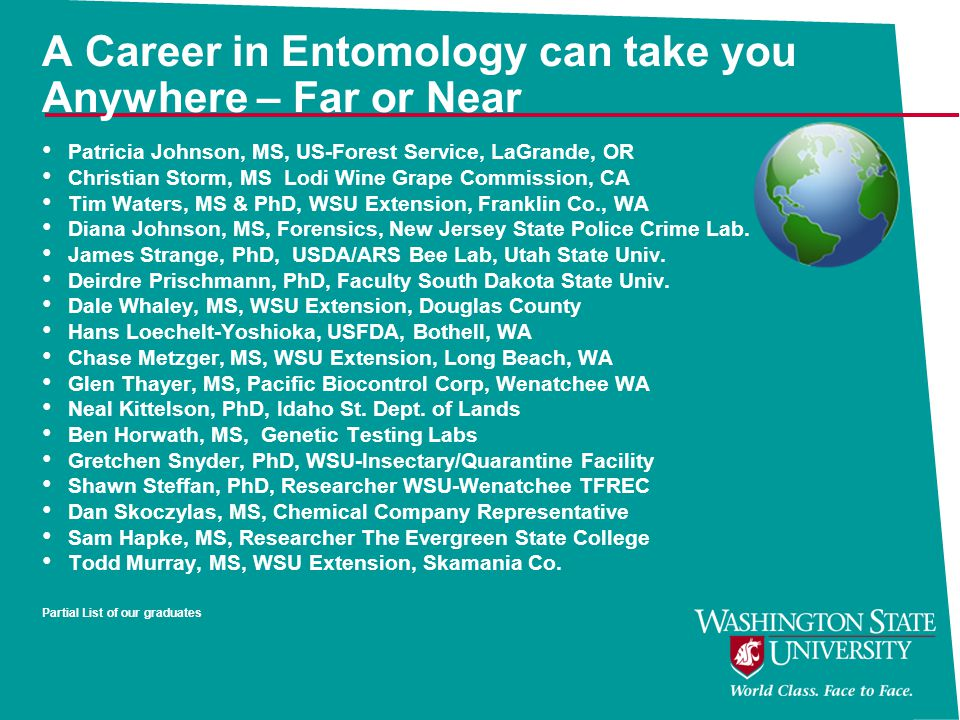 A Career in Entomology can take you Anywhere – Far or Near