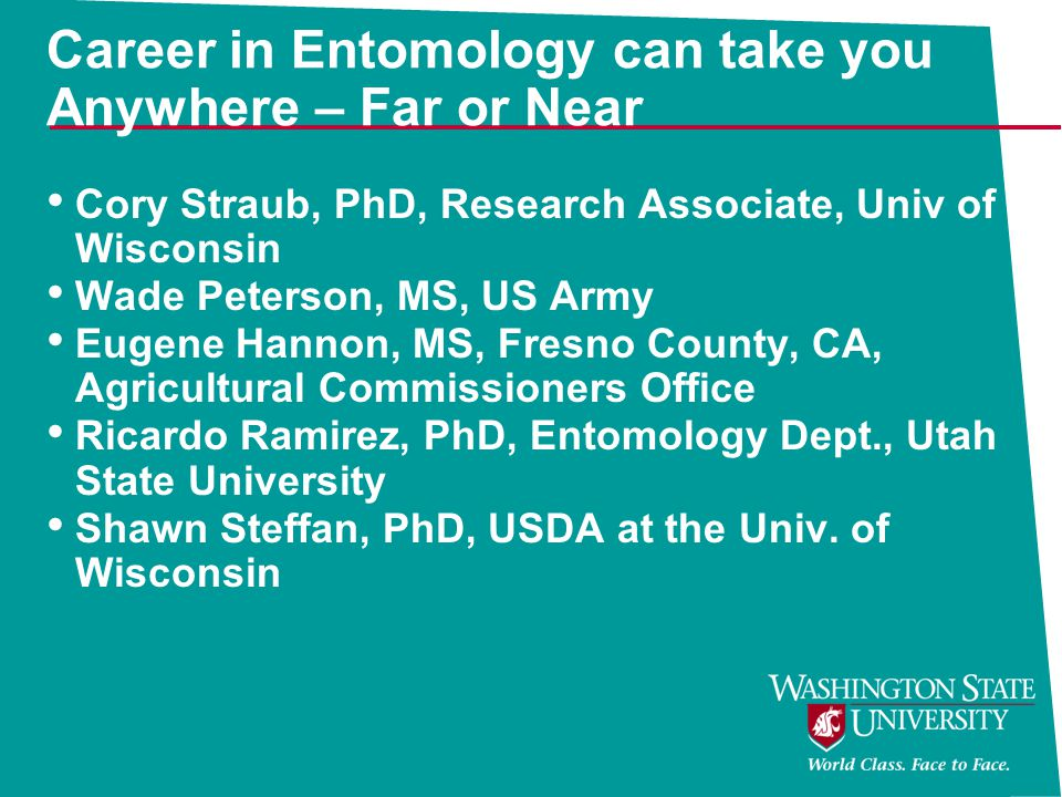Career in Entomology can take you Anywhere – Far or Near