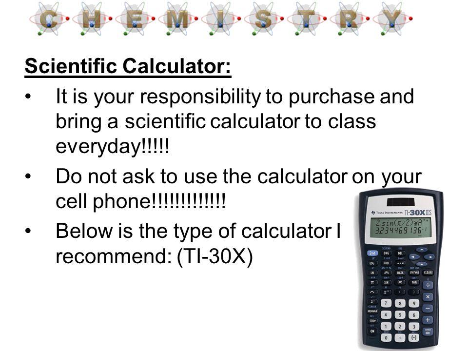 Scientific Calculator: