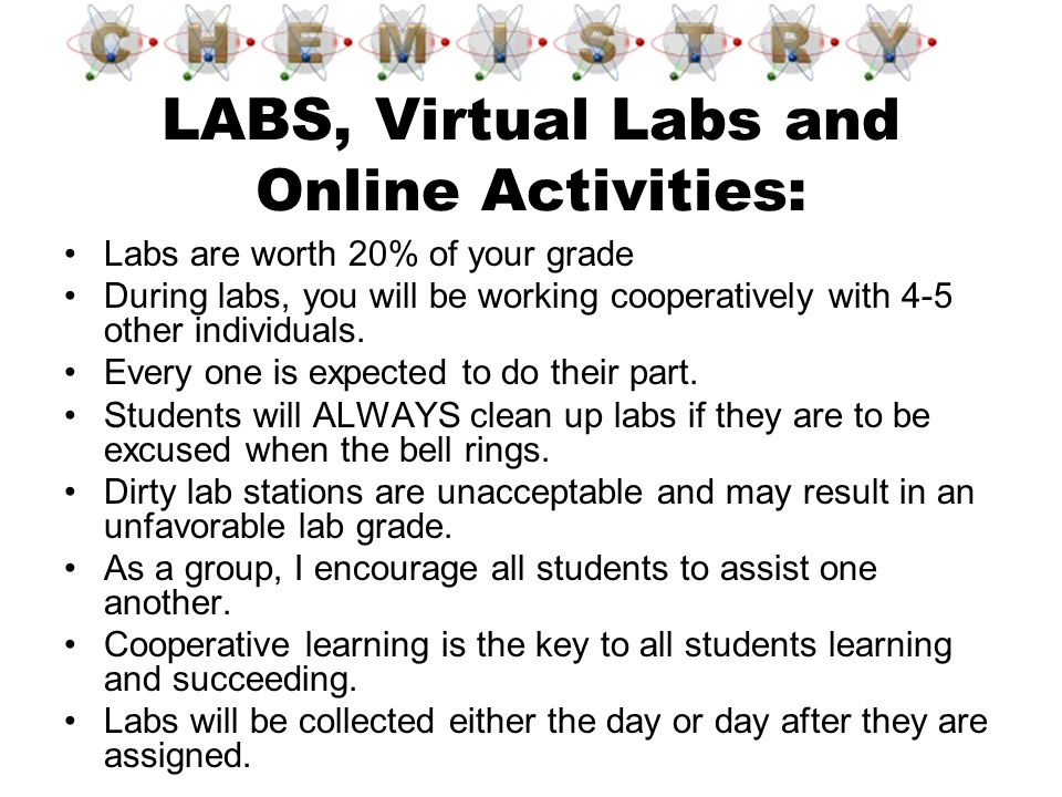 LABS, Virtual Labs and Online Activities: