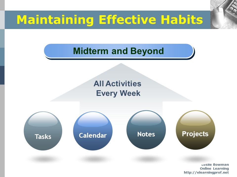 Maintaining Effective Habits