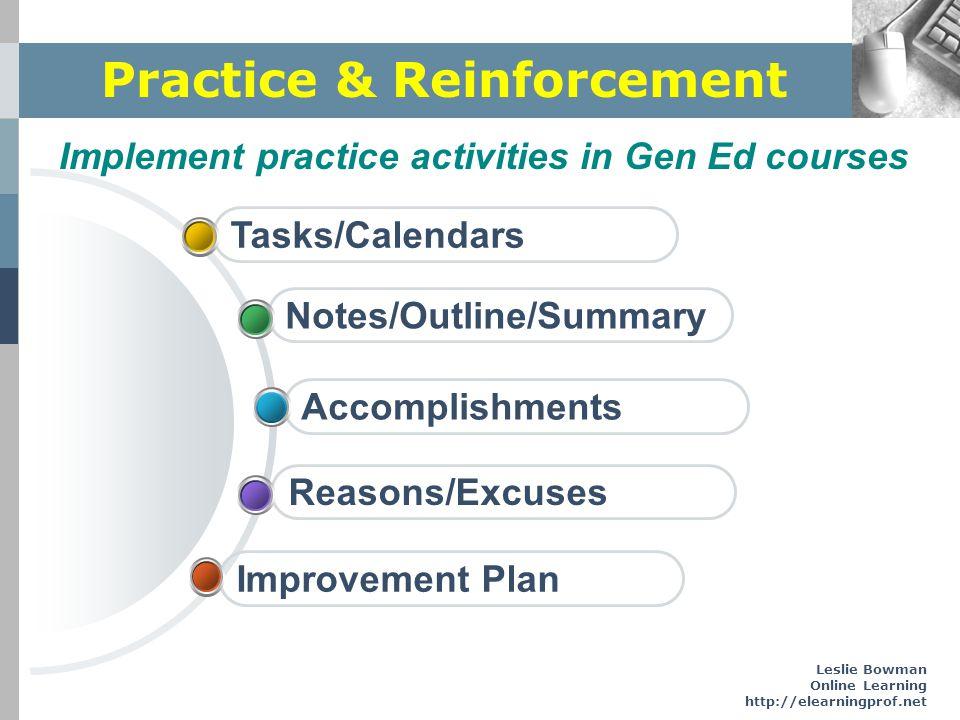 Practice & Reinforcement