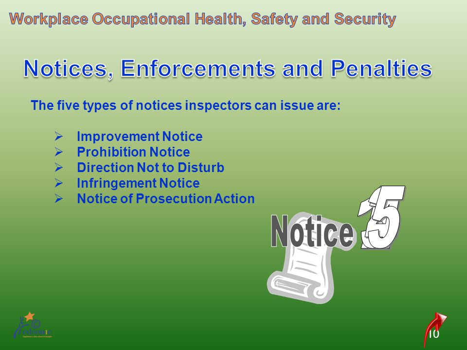 Notices, Enforcements and Penalties