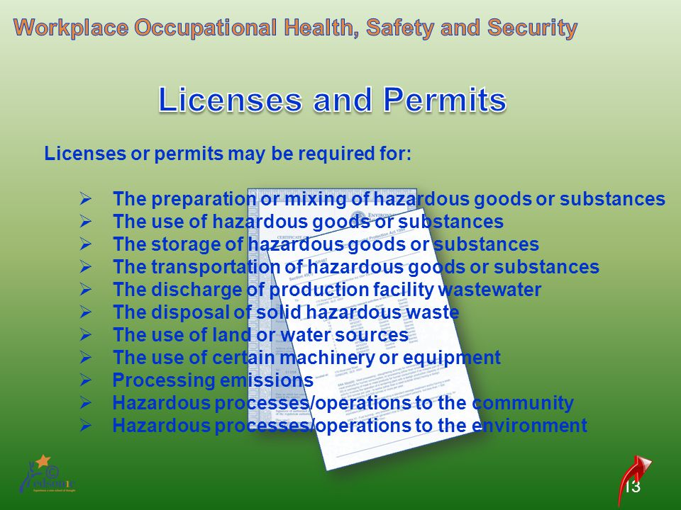 Workplace Occupational Health, Safety and Security