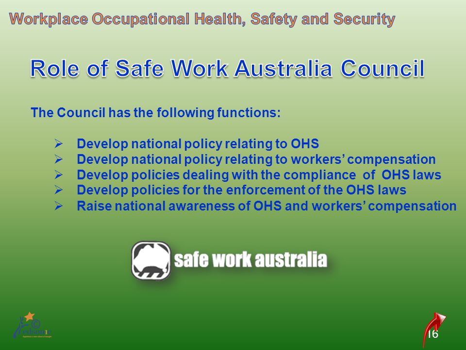 Role of Safe Work Australia Council