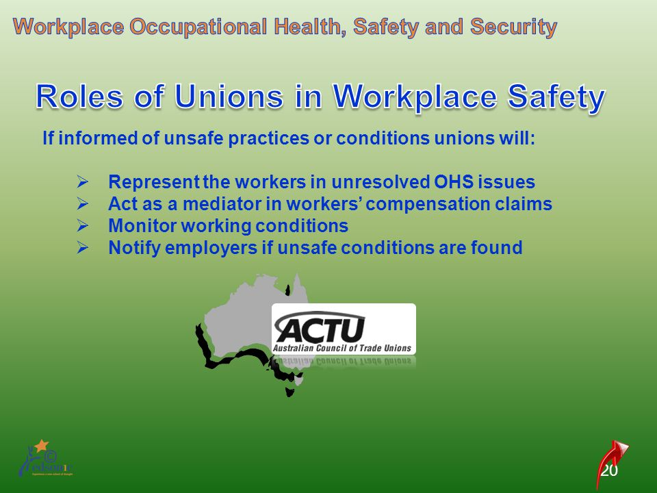 Roles of Unions in Workplace Safety