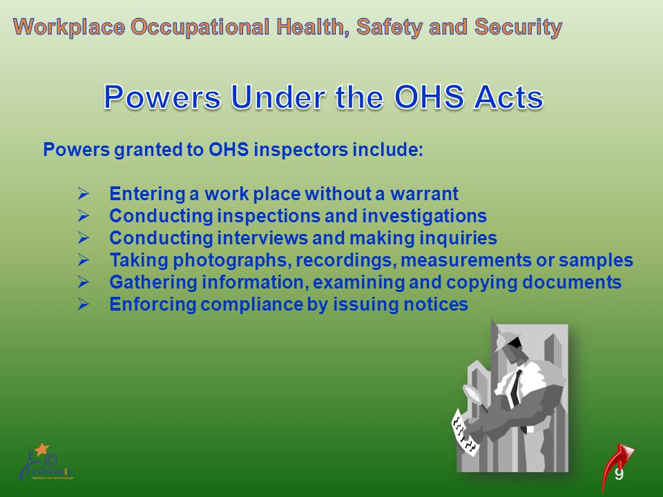 Powers Under the OHS Acts