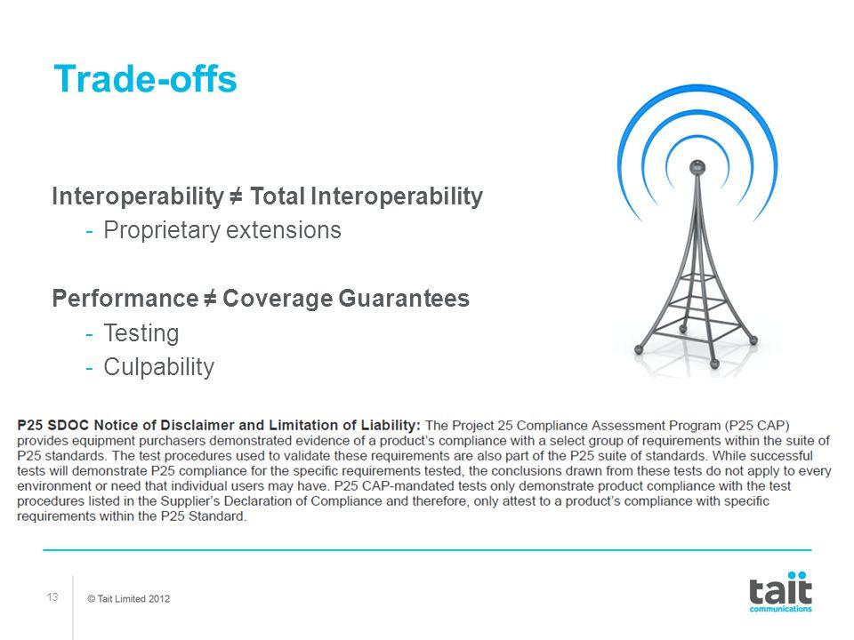 Trade-offs Interoperability ≠ Total Interoperability