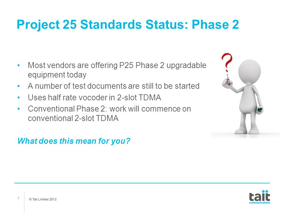 Project 25 Standards Status: Phase 2