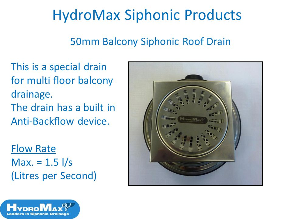 HydroMax Siphonic Products