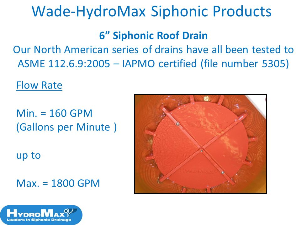 Wade-HydroMax Siphonic Products