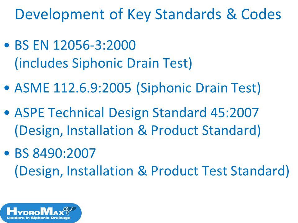 Development of Key Standards & Codes