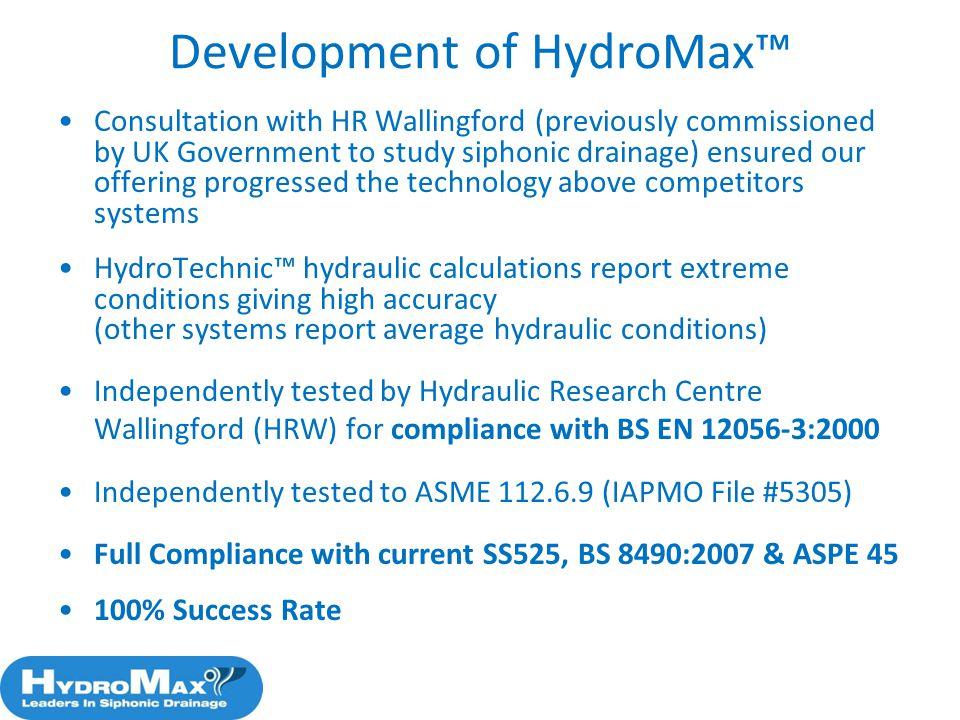 Development of HydroMax™