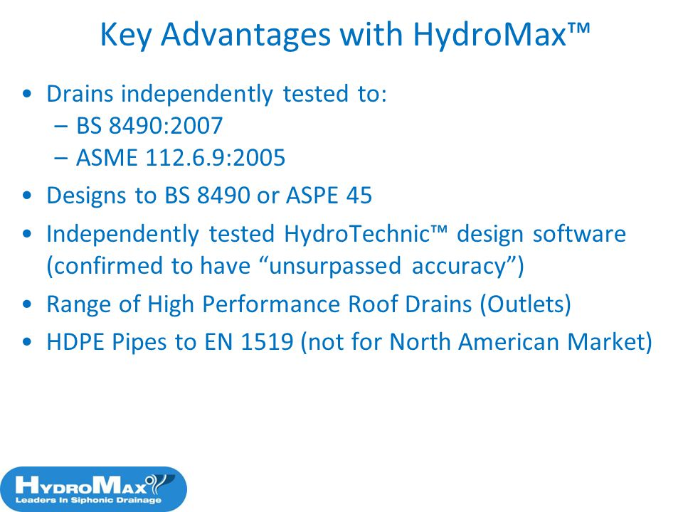 Key Advantages with HydroMax™