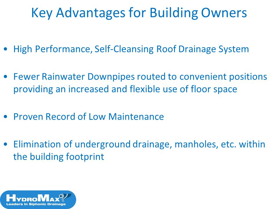 Key Advantages for Building Owners