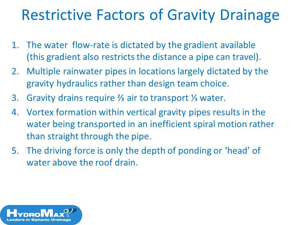 Restrictive Factors of Gravity Drainage
