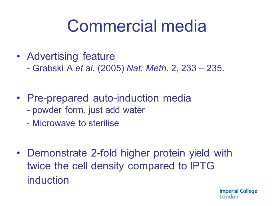 Commercial media Advertising feature - Grabski A et al. (2005) Nat. Meth. 2, 233 – 235.