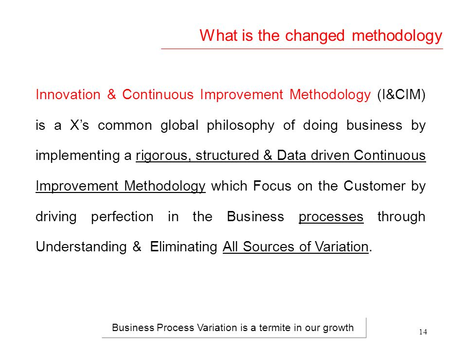 What is the changed methodology
