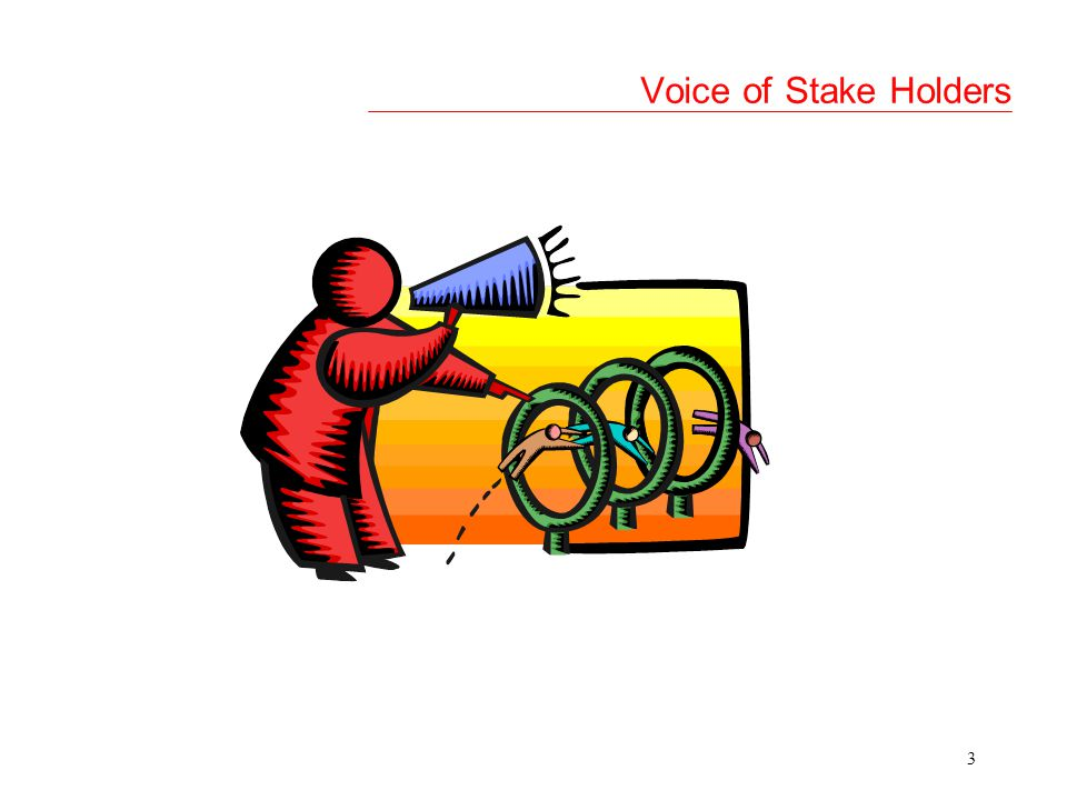 Voice of Stake Holders