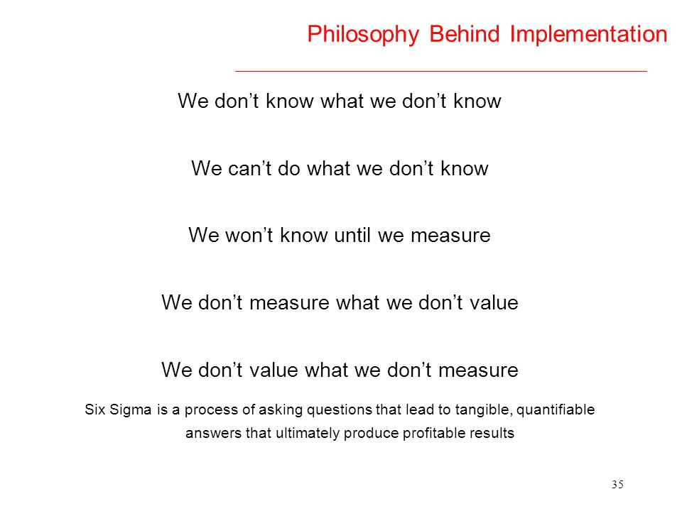 Philosophy Behind Implementation