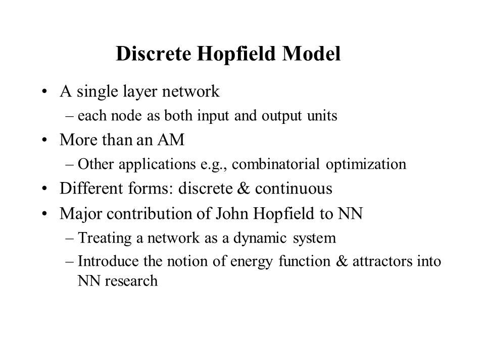 Discrete Hopfield Model