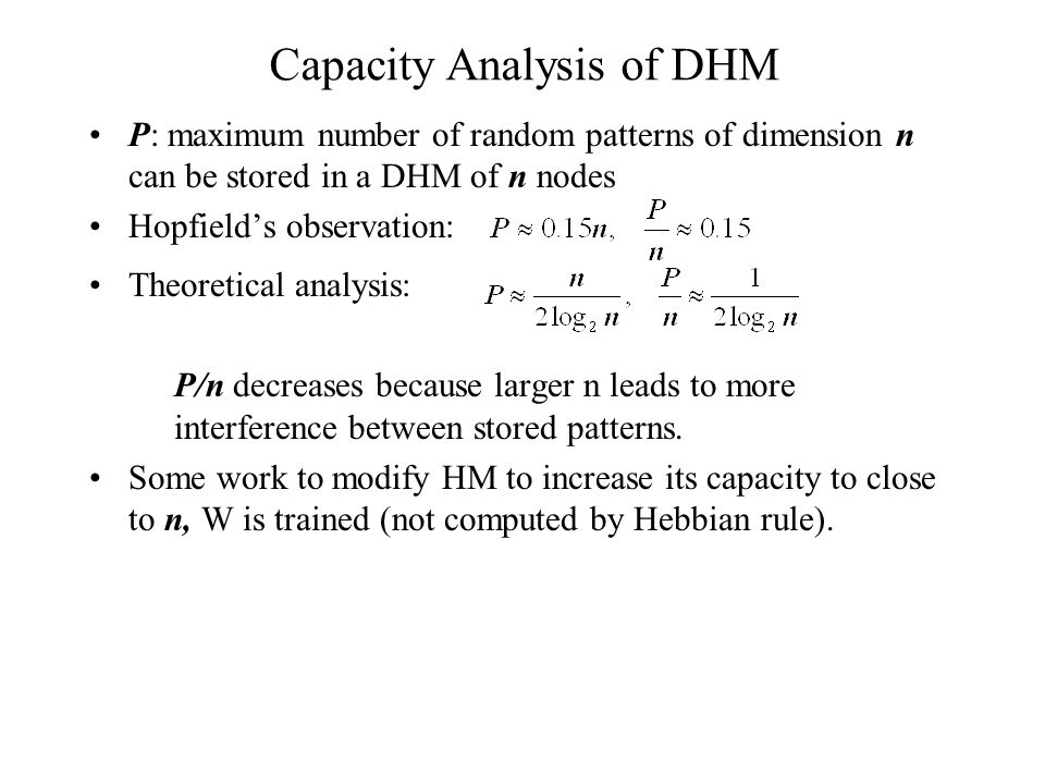 Capacity Analysis of DHM