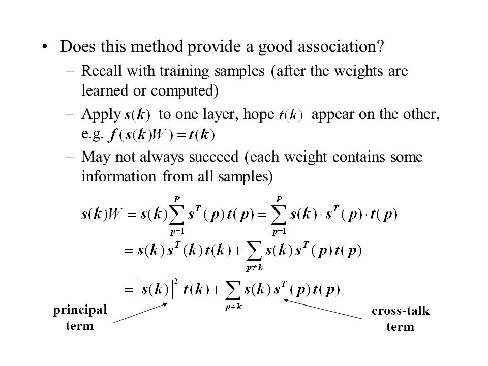 Does this method provide a good association