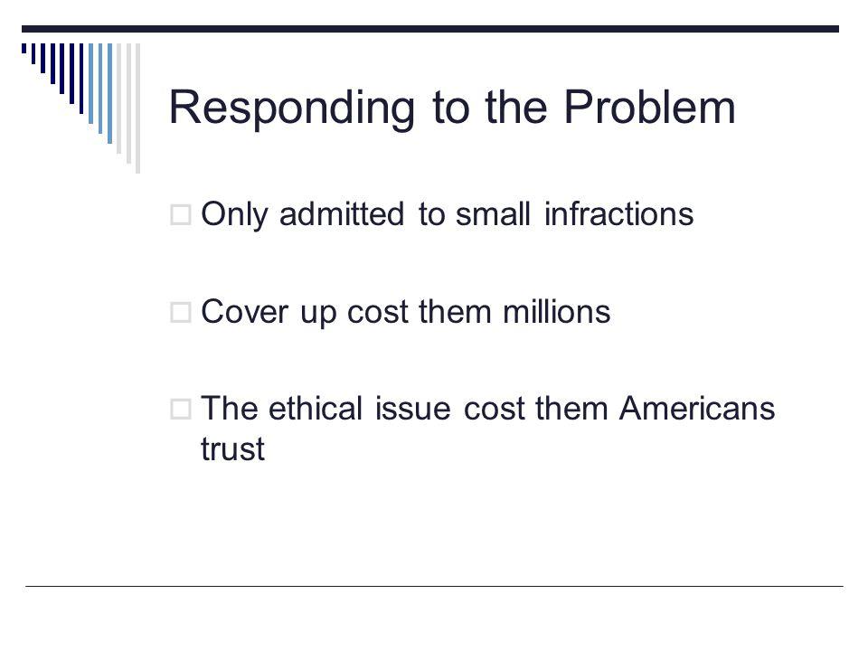 Responding to the Problem