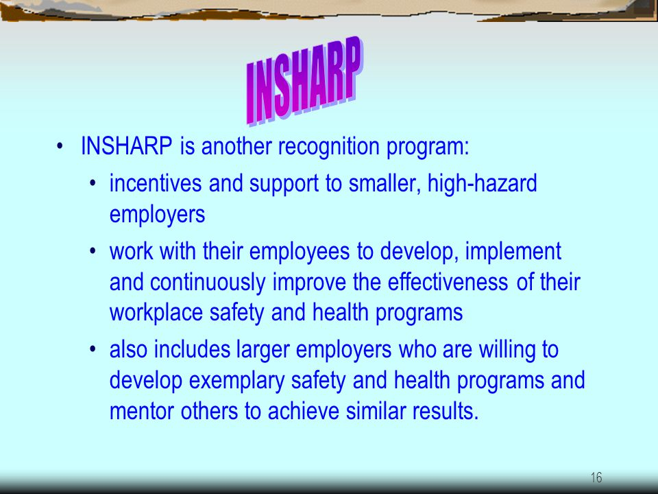 INSHARP INSHARP is another recognition program:
