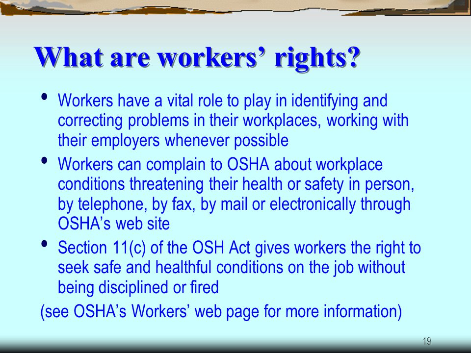 What are workers' rights