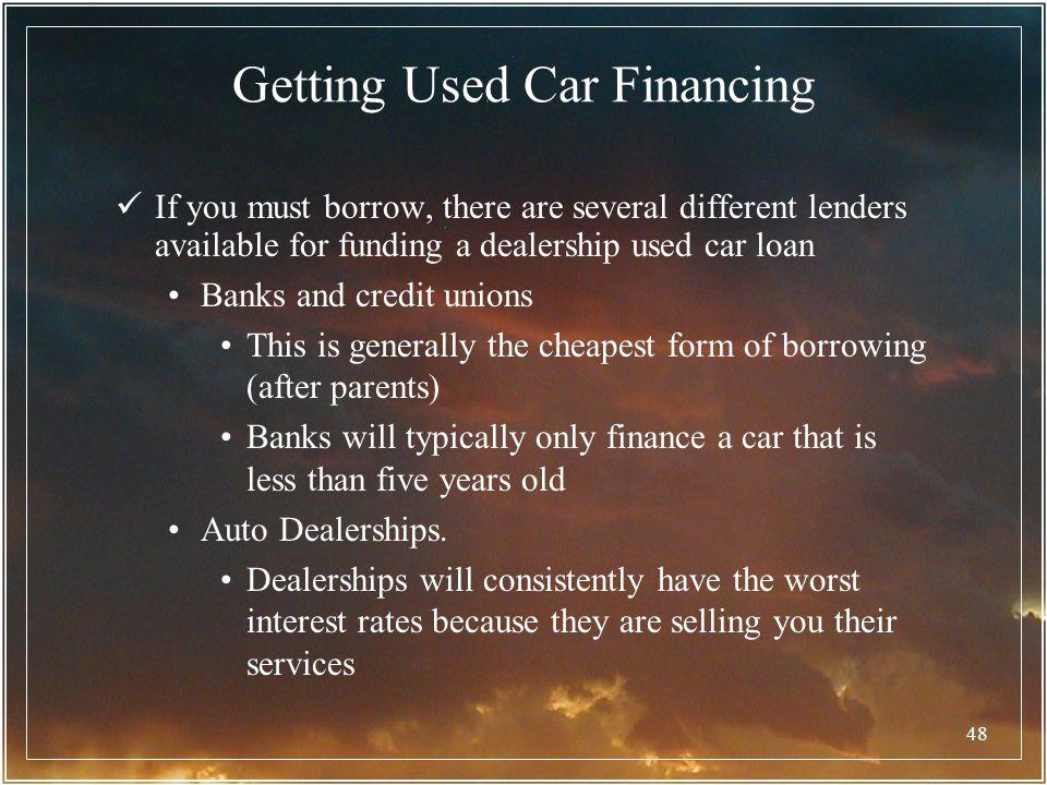 Getting Used Car Financing