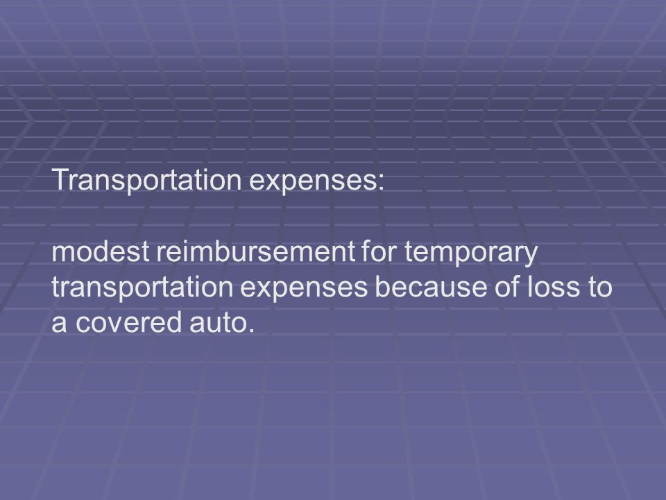 Transportation expenses:
