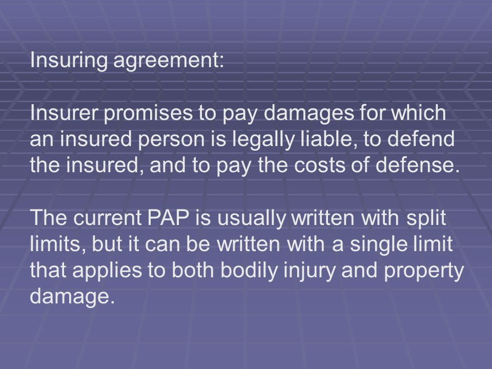 Insuring agreement: