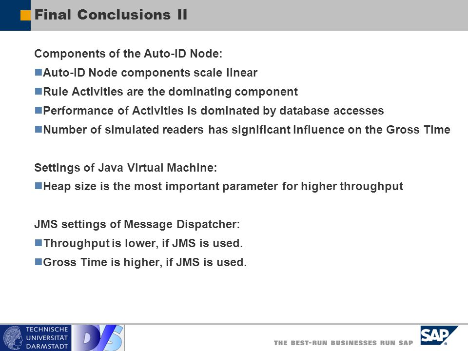 Final Conclusions II Components of the Auto-ID Node: