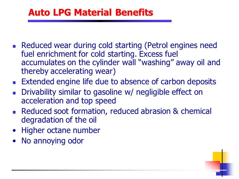Auto LPG Material Benefits
