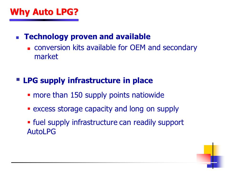 LPG supply infrastructure in place