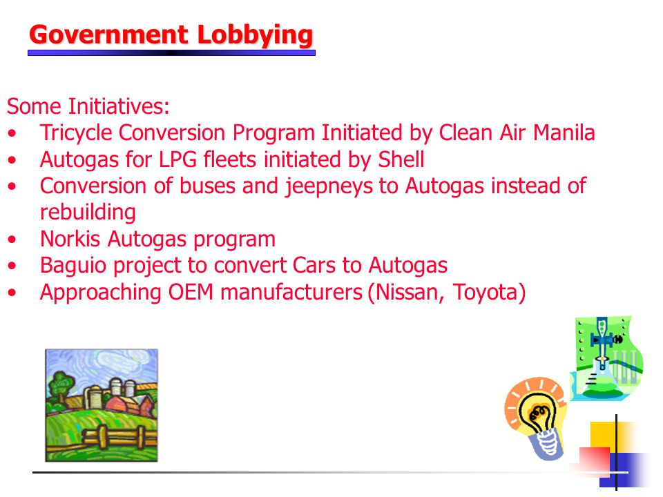 Government Lobbying Some Initiatives:
