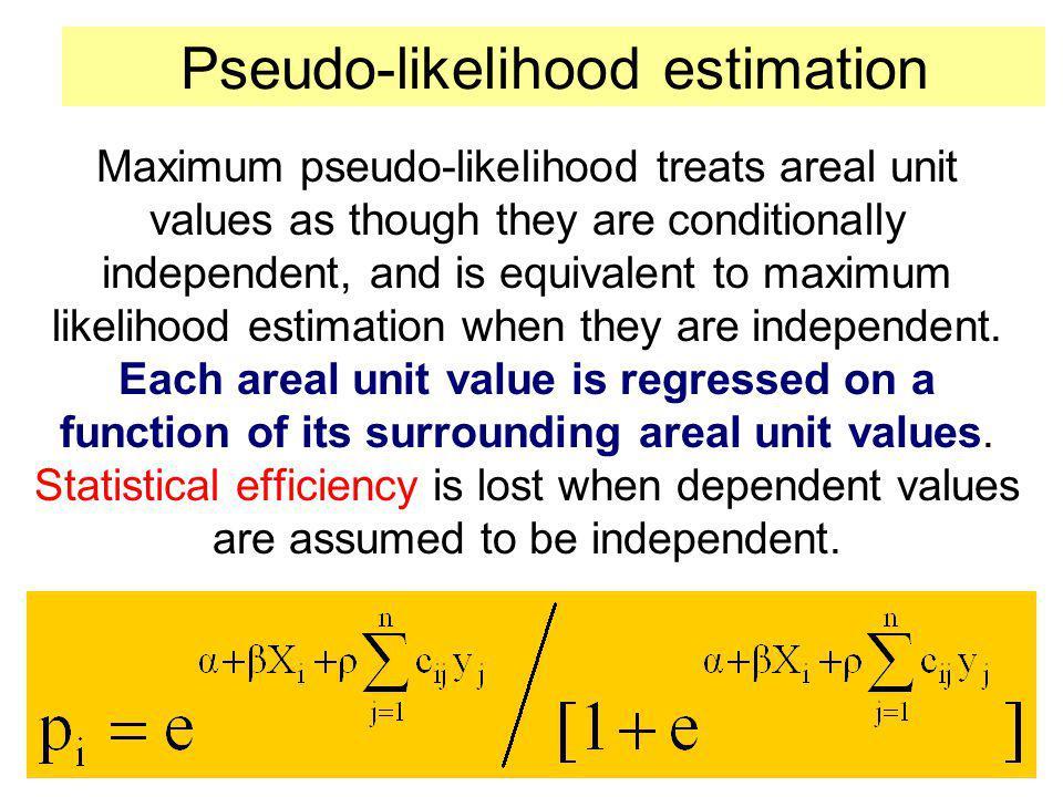 Pseudo-likelihood estimation
