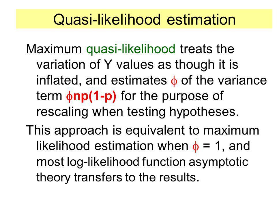 Quasi-likelihood estimation