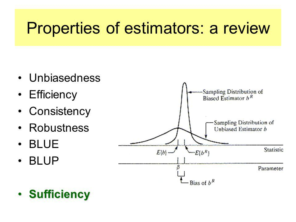 Properties of estimators: a review