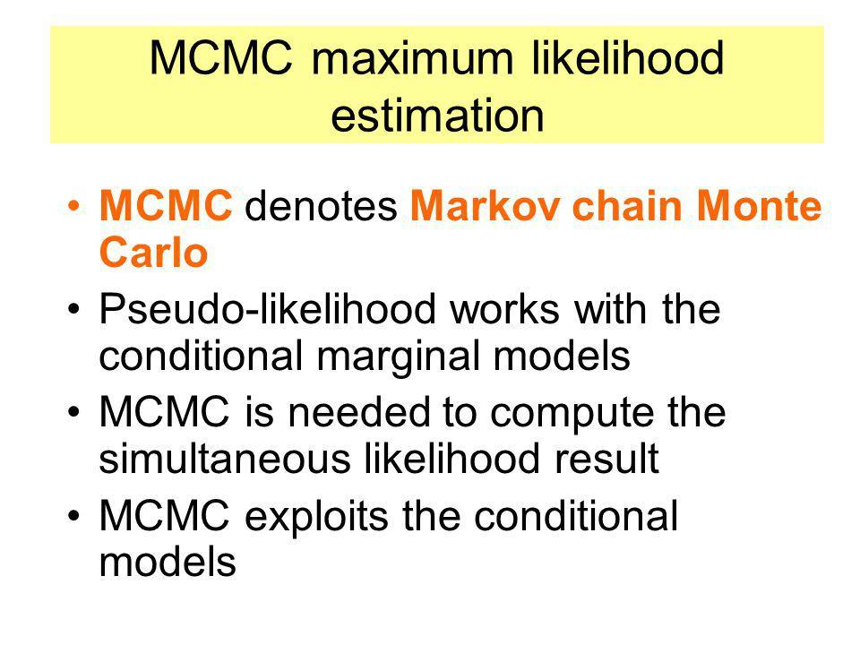 MCMC maximum likelihood estimation