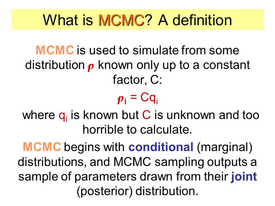What is MCMC A definition