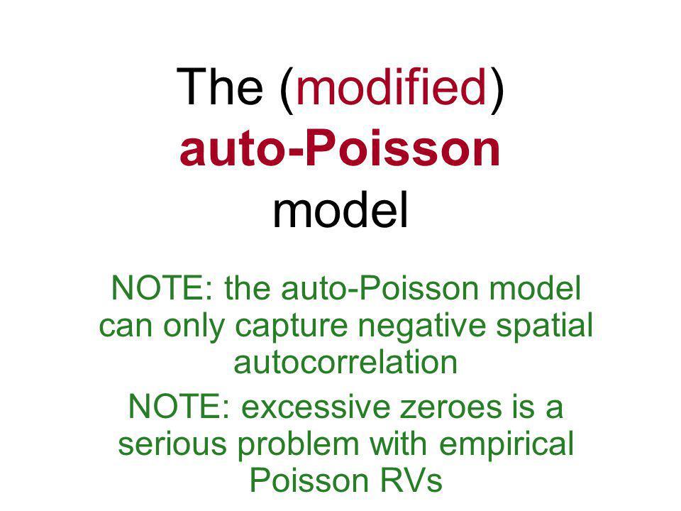 The (modified) auto-Poisson model