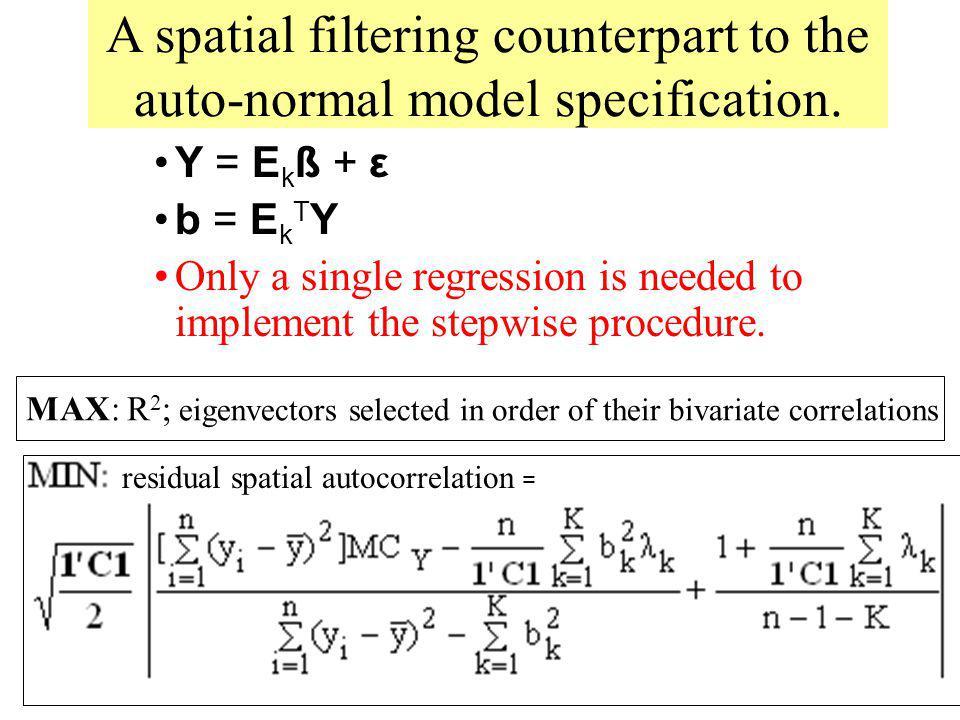 residual spatial autocorrelation =