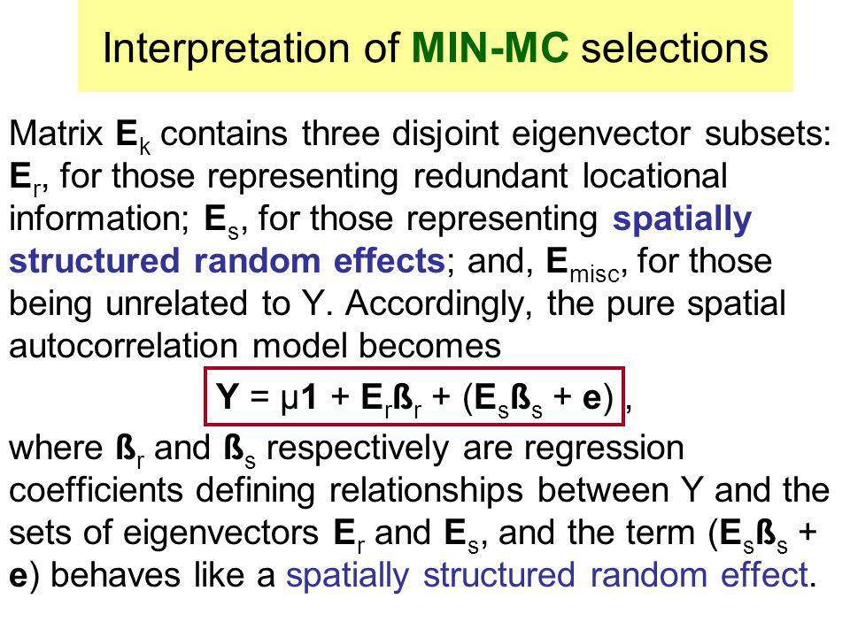Interpretation of MIN-MC selections