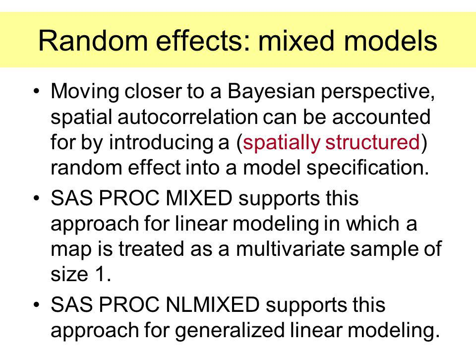 Random effects: mixed models