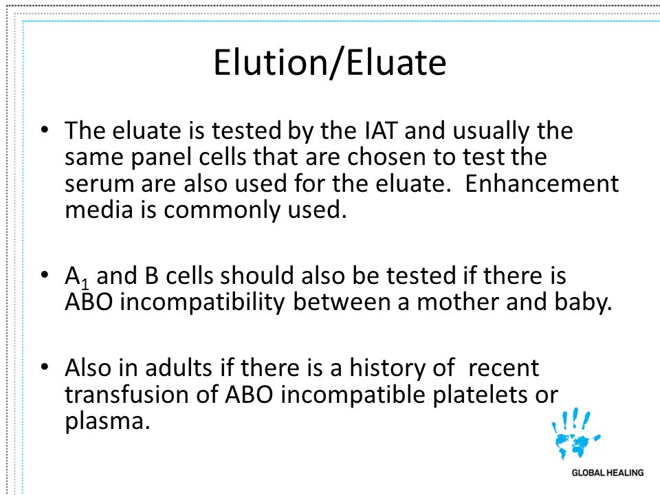 Elution/Eluate